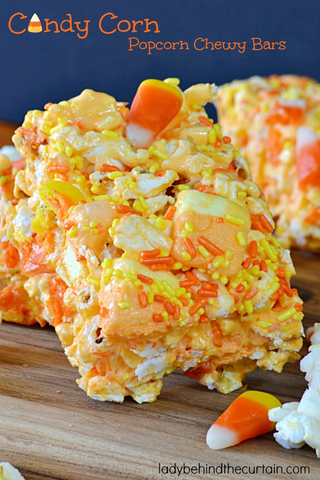 50+ Halloween Candy Corn Inspired Treats and Snacks Candy Corn Popcorn Chewy Bars