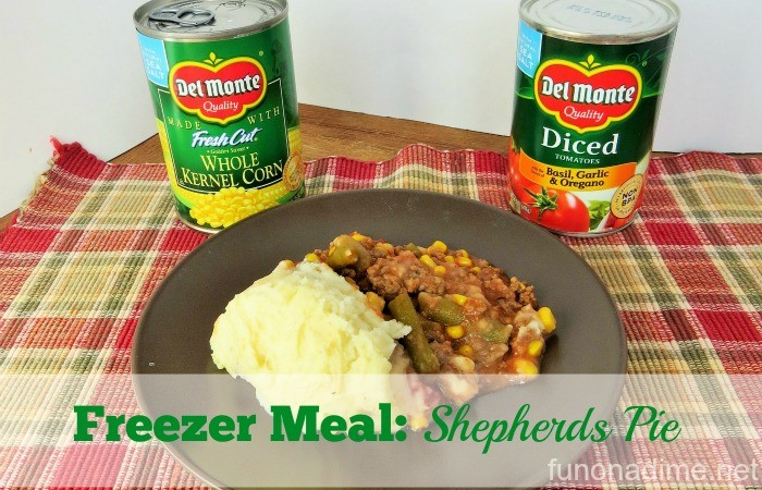 Freezer Meal Shepherds Pie #StockUpOnDelMonte #Albertsons [Ad]