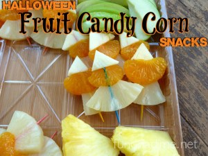 Halloween Fruit Candy Corn Snack