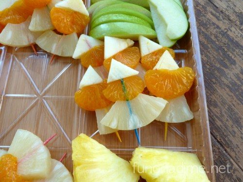 Halloween Fruit Candy Corn Snack and fruit dip recipe