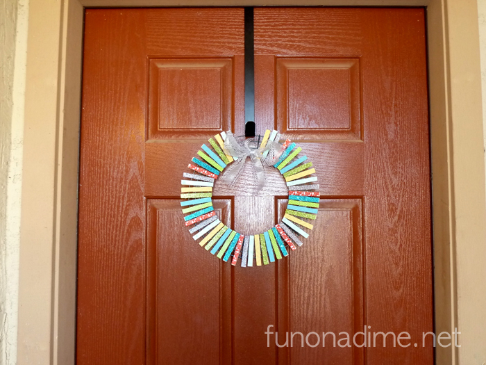Clothespin Wreath Tutorial - Christmas inspired Tutorial