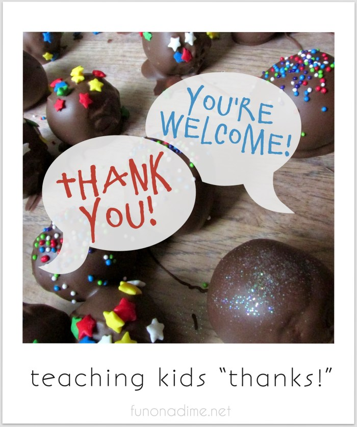 "Teaching Kids ""Thanks!"""