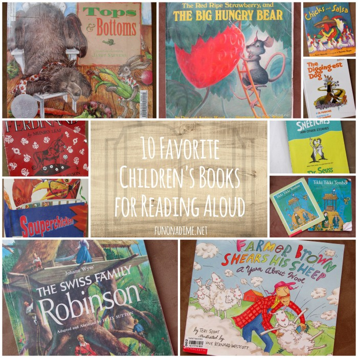 10 fave chilren's books collage
