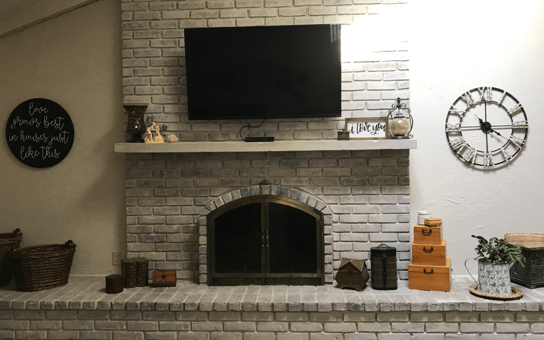 Fireplace Facelift – An Inexpensive DIY Weekend Project