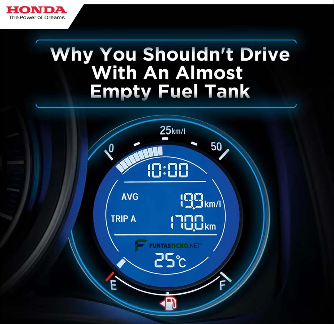 Elakkan memandu jika tangki minyak kereta hampir kering