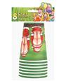 Santa butts flashing cups