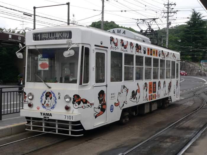 Okayama_Electric_Tramway_7101_TAMA_Densya
