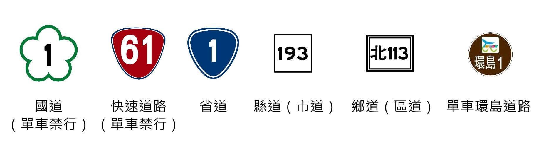 ✔台灣公路編號原則