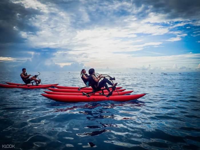 水上自行車注意事項