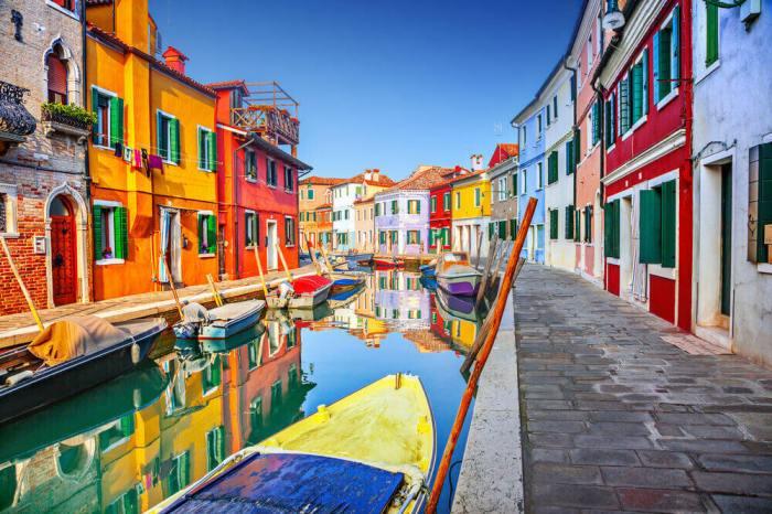 歐洲 義大利 威尼斯離島 彩色島