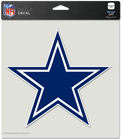 dallas cowboys nfl full color helmet logo 8x8 die cut decal