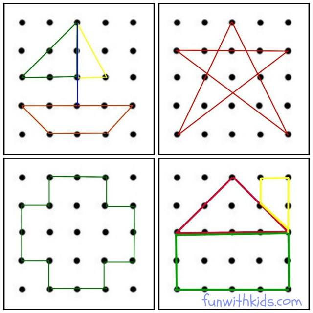 Learning Shapes With Rubber Bands Fun With Kids