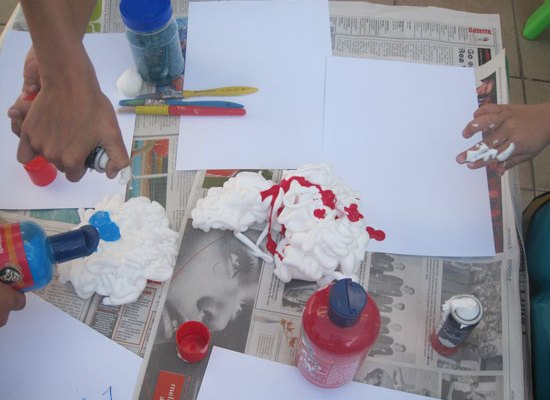 What Is This? Shaving Cream Painting