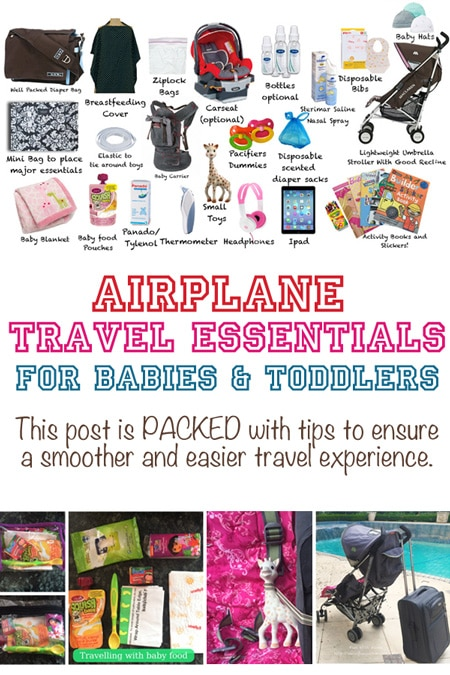 Airplane flying travel essentials for a baby and toddler will ensure that you have a smoother journey with this post is packed full of tips to make sure mom is prepared