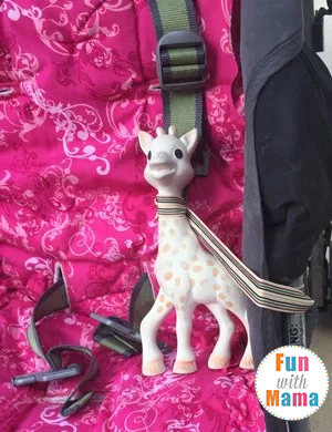 keep sophie the giraffe from falling all the time using this hack and tip