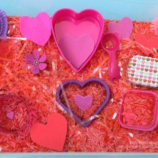 Valentines Themed Sensory Bin
