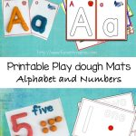 Alphabet Letter Crafts Play Dough Mats, Numbers, and Arabic Numbers