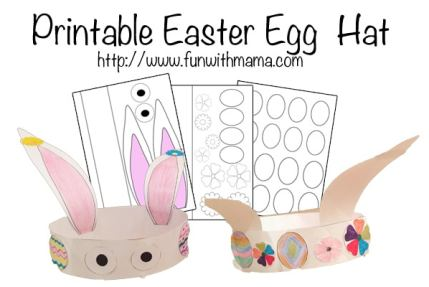printable easter egg bunny printable spring flowers hat