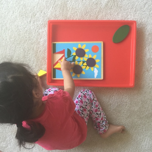 This Melissa and Doug Beginner Toddler Pattern Activity is a sure hit with any kids ages 20 months to 3!