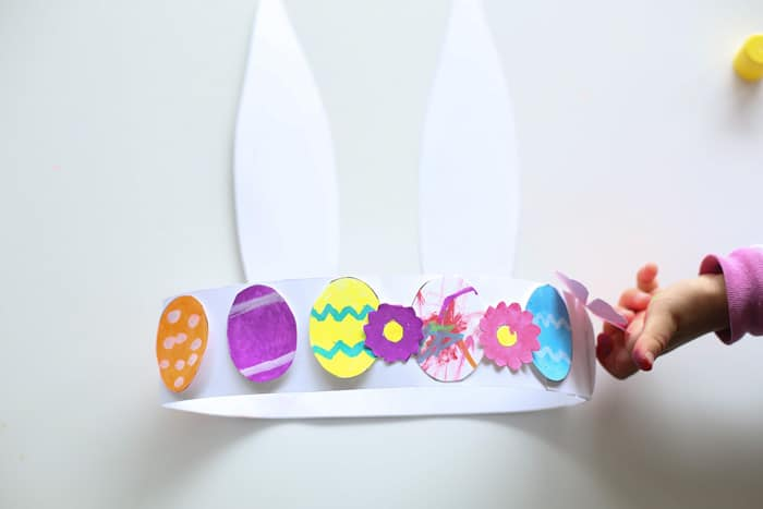Easter egg coloring hat activity