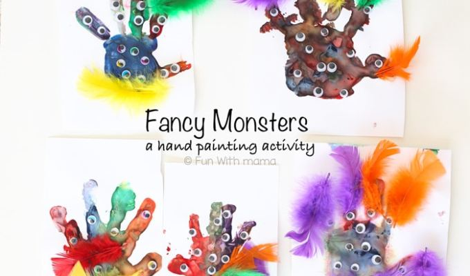 Fancy Monster Finger Paint
