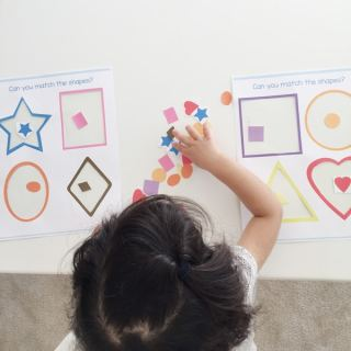 Sticker Preschool Shapes Matching Activity