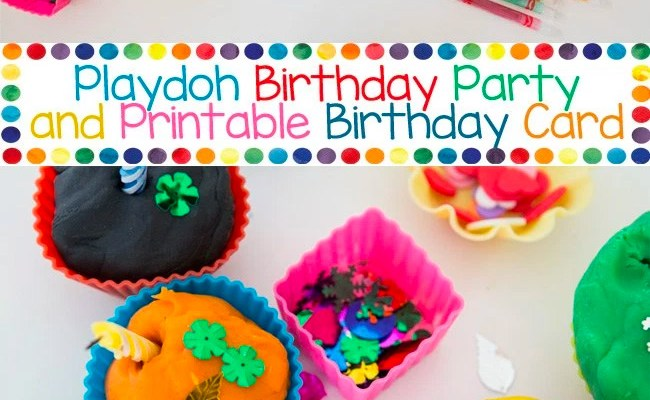 Playdoh Birthday Party Cupcakes and Card