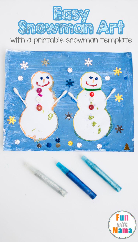 easy snowman art
