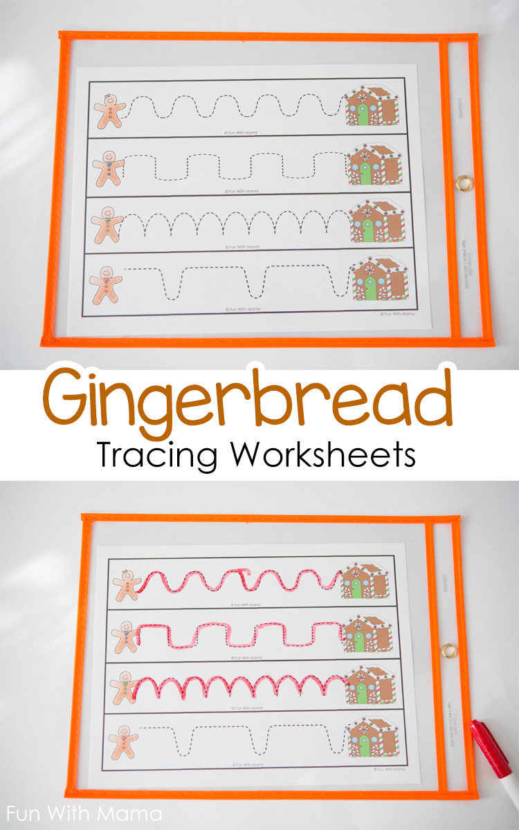 gingerbread-tracing-worksheets