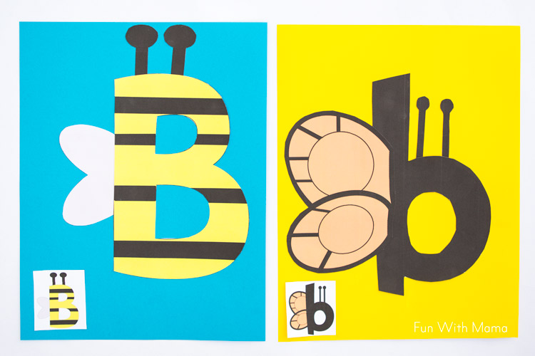 Letter B Crafts B is for Bee - Fun with Mama