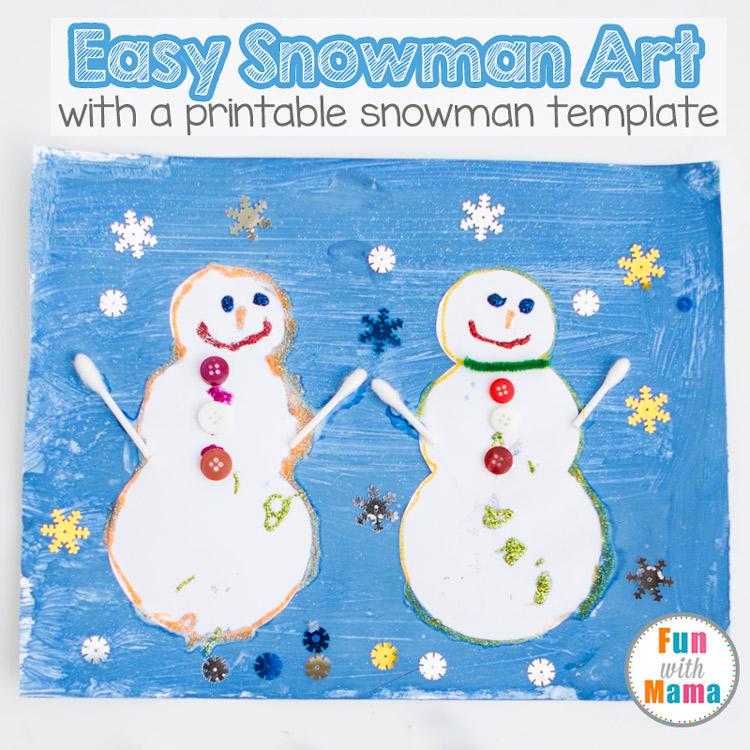 easy preschool snowman art