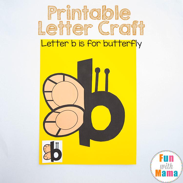 printable letter b crafts