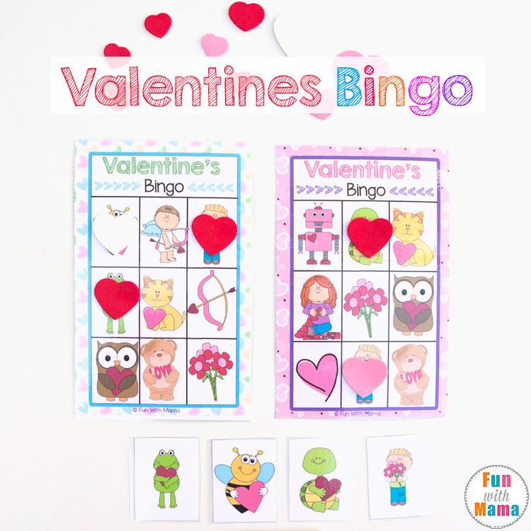 valentines bingo game for preschoolers and kindergarten kids