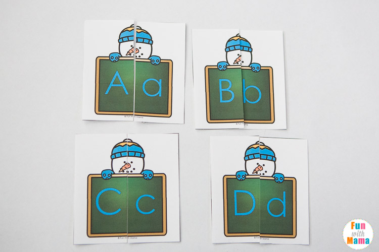 alphabet uppercase and lowercase letter matching