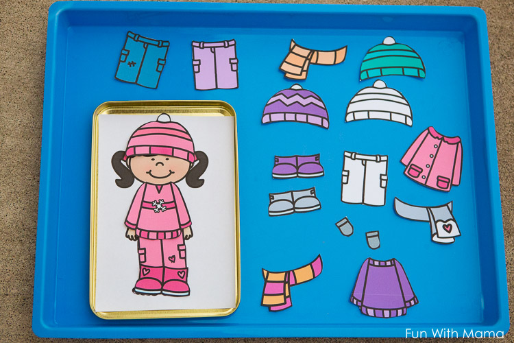 winter paper doll clothes