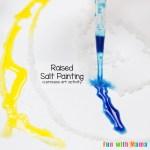 Rainbow Raised Salt Painting