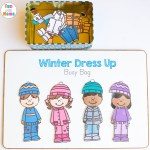 Printable Winter Paper Dolls Dress Up Busy Bag