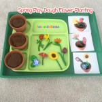 Preschool Spring Flower Planting Play Dough Activity