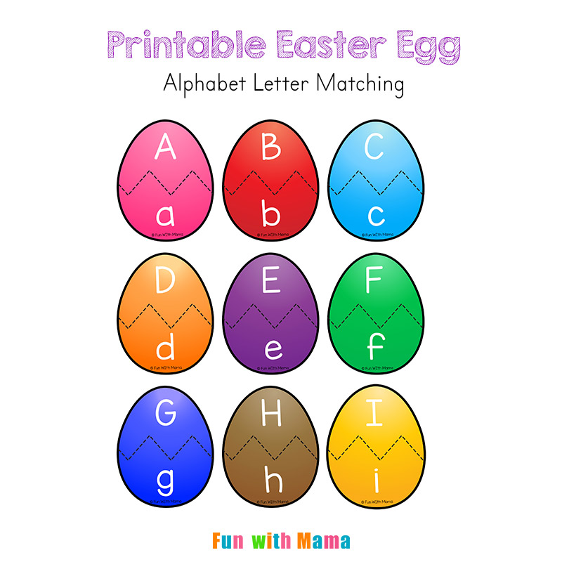 Easter Alphabet Letter Matching Puzzlew800