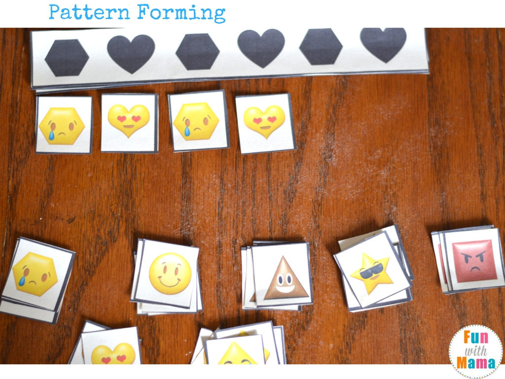 Emotions Shapes Free Printable Preschool Pack