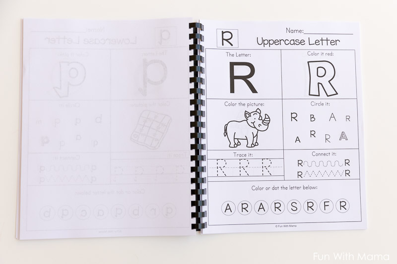 Printable Alphabet Letter Worksheets - Fun with Mama