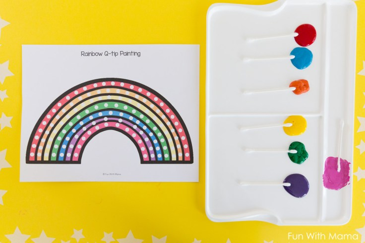 cotton swab painting-sheets