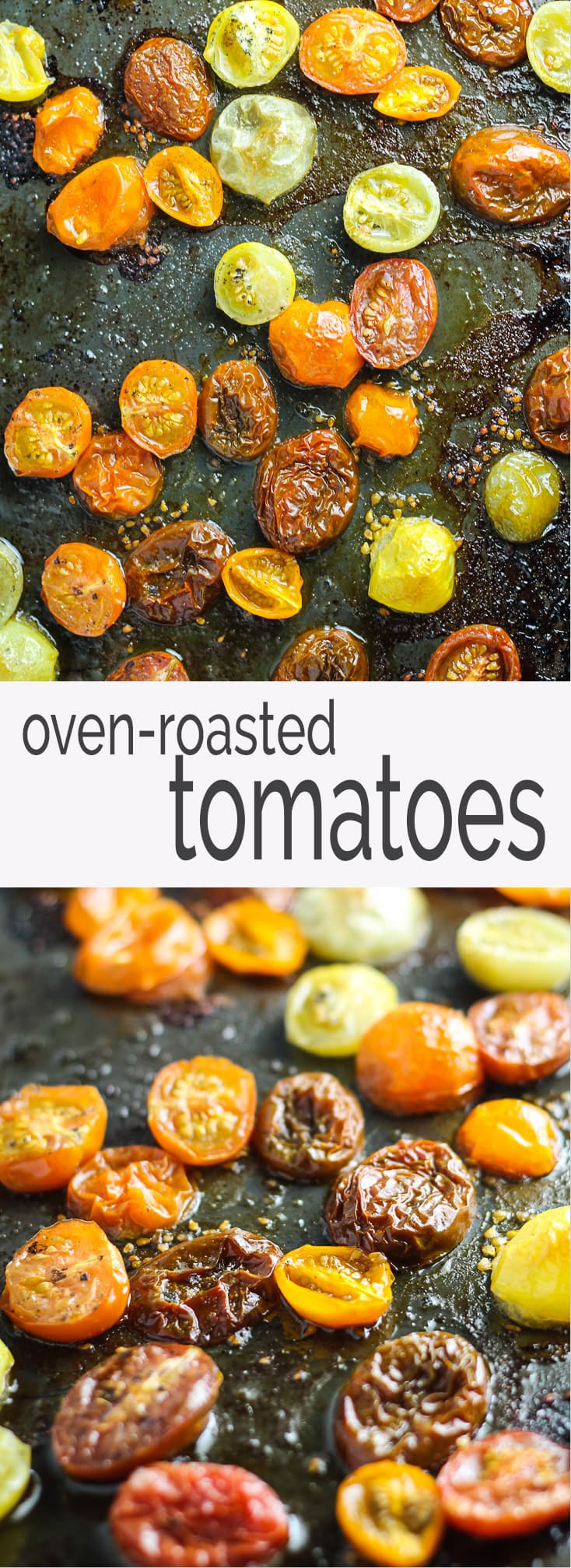 Add a boost of umami to pasta and pizza with these easy, Low Fodmap Roasted Tomatoes. Just three simple ingredients - cherry tomatoes, garlic-infused olive oil and sea salt!