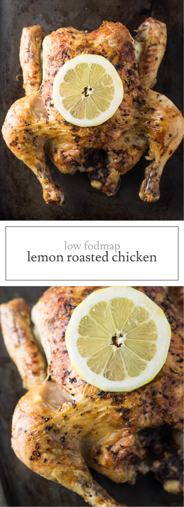 Crispy on the outside and tender on the inside, this easy-to-make Low FODMAP Lemon Roasted Chicken is the perfect cook once, eat twice (or more) dish! Save the bones to makeyour own Low FODMAP Chicken Broth.