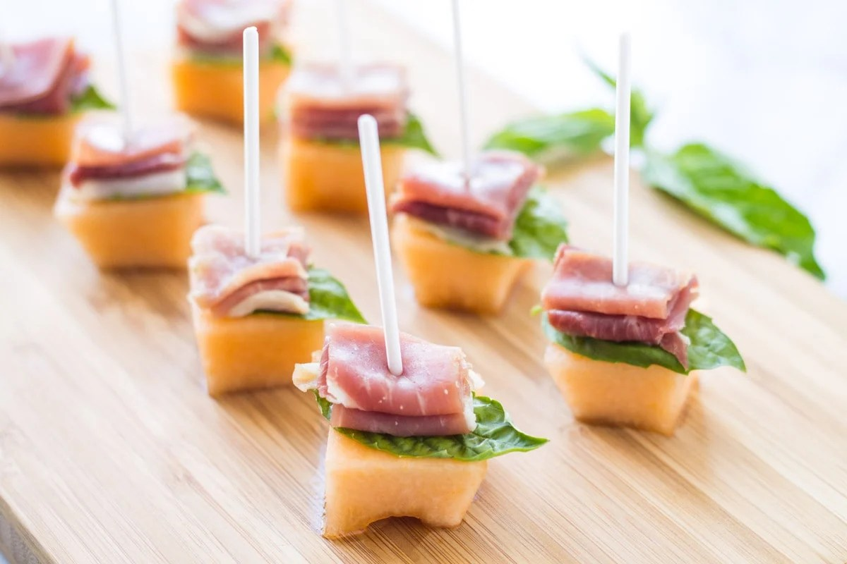 "With just a handful of ingredients, these Low Fodmap Prosciutto Melon Bites are a super simple appetizer ""recipe""- perfect for a party of any size!"