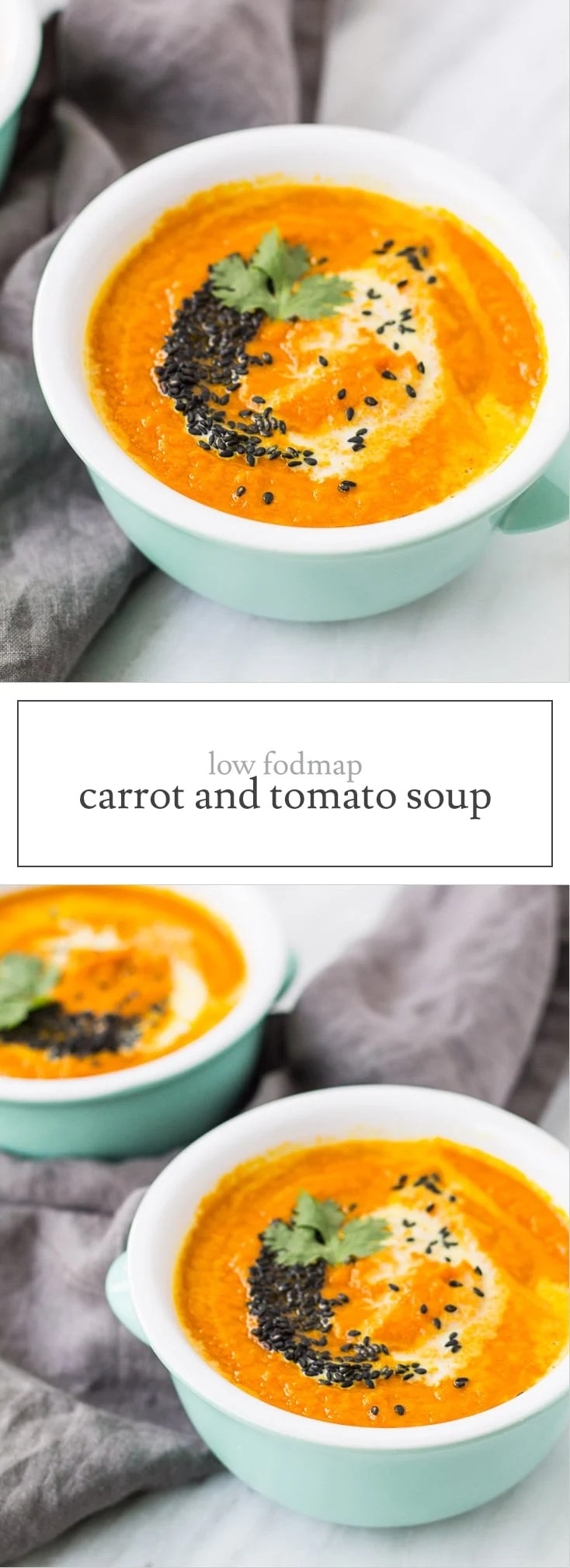 A plant-based slow cooker soup, this Low FODMAP Carrot and Tomato Soup is a yummy option to warm up during these cold weather months.