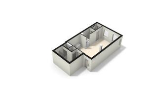 3D model begane grond