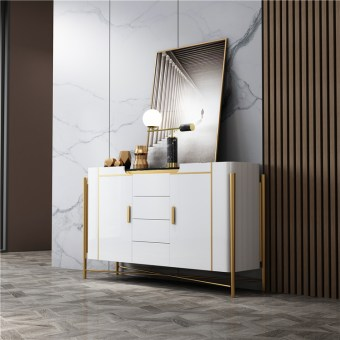 219china luxury home furniture storable metal wood side drawer table manufacturer supplier-furbyme (1)