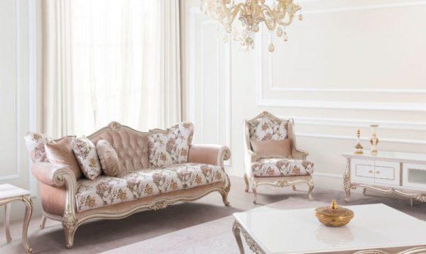 Kursi Ruang Keluarga Mewah Klasik Yezzy