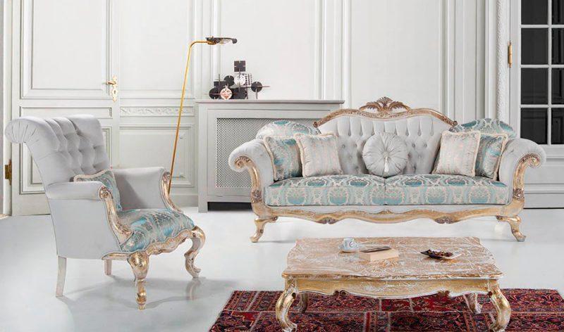 Sofa Ukir Mewah Klasik Toronta